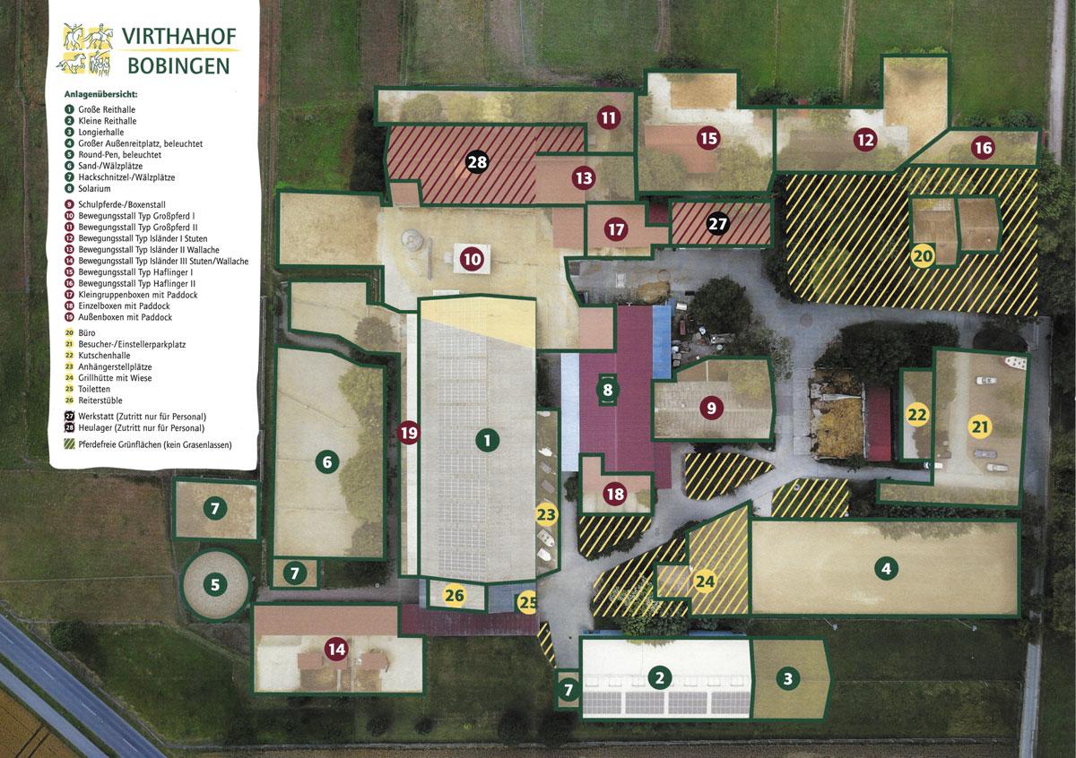 Plan Reitanlage Virthahof
